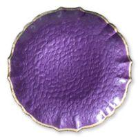 Viva Glass Charger Plate in Purple