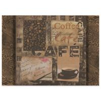 Coffee House Laminated Placemats in Brown (Set of 4)