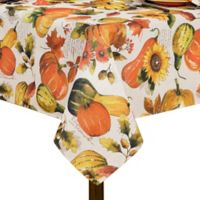 Grateful Season Swaying Leaves 60-Inch x 102-Inch Tablecloth in Brick