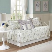 Madison Park Lydia Reversible Daybed Set in Ivory/Purple