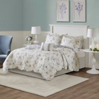 Madison Park Lydia Reversible Full/Queen Coverlet Set in Ivory/Purple