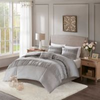 Madison Park Elvina King/California King Duvet Cover Set in Grey
