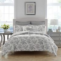 Laura Ashley® Annalise Floral Twin Duvet Set in Medium Grey
