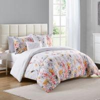 Buy white flower comforter bed bath beyond vcny misha 5 piece king comforter set in whitepurple mightylinksfo