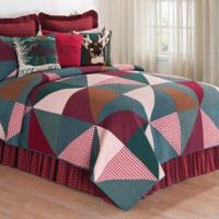 C&F Home Shady Pines Reversible Twin Quilt in Burgundy