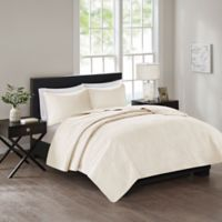 510 Designs Tahlia Full/Queen Coverlet in Ivory