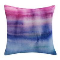 E by Design Harvest Sunset Beauty Square Throw Pillow in Pink