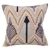American Colors Embroidered Arrow Square Throw Pillow in Blue