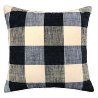 Buffalo Plaid Square Throw Pillow in Navy