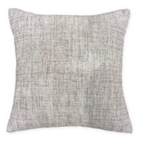 Woodbury Chenille Square Throw Pillow in Grey