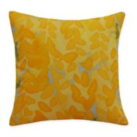 E by Design Flower Bell Square Throw Pillow in Yellow
