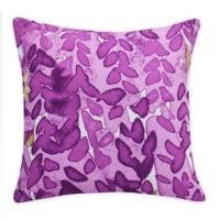 E by Design Flower Bell Square Throw Pillow in Purple