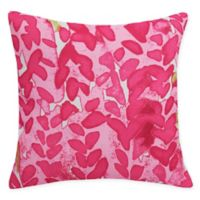 E by Design Flower Bell Square Throw Pillow in Pink