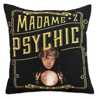 E By Design Witches Brew Madame Psychic Square Throw Pillow in Gold/Yellow