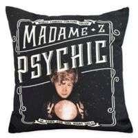 E By Design Witches Brew Madame Psychic Square Throw Pillow in Cream