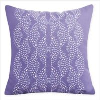 E By Design Dotted Focus Square Throw Pillow in Purple