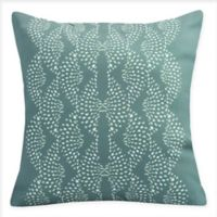 E By Design Dotted Focus Square Throw Pillow in Green