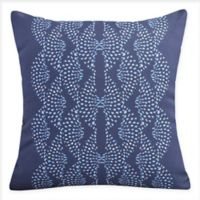 E By Design Dotted Focus Square Throw Pillow in Blue