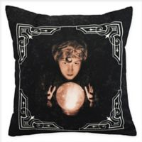 E By DesignWitches Brew All Seeing Psychic Square Throw Pillow in Cream