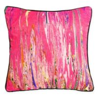 New York Art Gallery Anu Square Throw Pillow in Pink