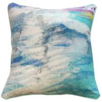 New York Art Gallery Anu Square Throw Pillow in Turquoise