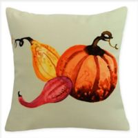 E by Design Harvest Gourd Square Throw Pillow in Light Green