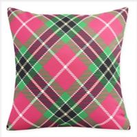 E by Design Mad for Plaid Square Throw Pillow in Red