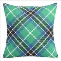 E by Design Mad for Plaid Square Throw Pillow in Navy