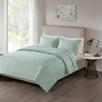 510 Designs Otto King/California King Coverlet in Seafoam