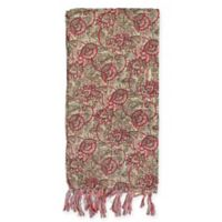 Kantha Cotton Bed Runner in Green/Magenta