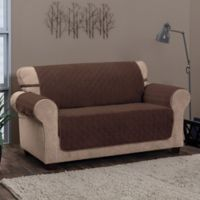 Chevron Loveseat Furniture Protector in Chocolate