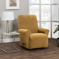 Stretch Sensations 4-Piece Stretch Ogee Recliner Slipcover in Camel