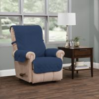 Ripple Plush Recliner Furniture Protector in Blue