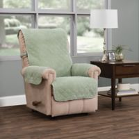 Ripple Plush Recliner Furniture Protector in Green