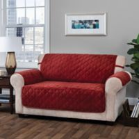 Logan Micro Velvet Sofa Furniture Protector in Burgundy