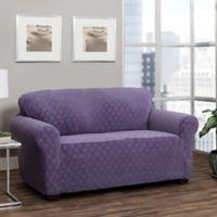 Stretch Sensations Stretch Ogee Sofa Slipcover in Grape