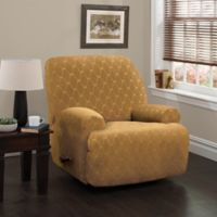 Stretch Sensations 4-Piece Stretch Ogee Large Recliner Slipcover in Camel
