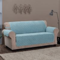 Innovative Textile Solutions Chevron Sofa Protector Slipcover in Spa Blue
