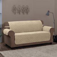 Innovative Textile Solutions Chevron Sofa Protector Slipcover in Natural