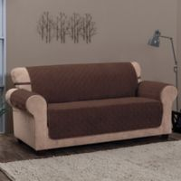 Innovative Textile Solutions Chevron Sofa Protector Slipcover in Chocolate
