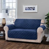 Innovative Textile Solutions Logan Loveseat Protector Slipcover in Navy