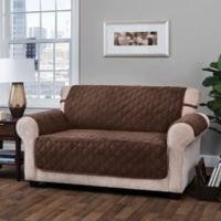 Innovative Textile SolutionsLogan Loveseat Protector Slipcover in Chocolate
