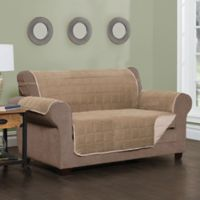 Sussex Quilted Extra-Large Sofa Slipcover in Natural