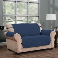 Innovative Textile Solutions Ripple Plush Furniture Protector Slipcover in Blue