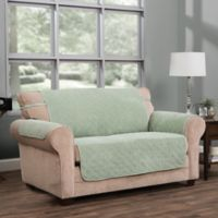 Innovative Textile Solutions Ripple Plush Furniture Protector Slipcover in Green