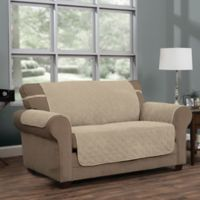 Innovative Textile Solutions Ripple Plush Furniture Protector Slipcover in Natural