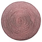 Shine Round Woven Placemat in Chocolate