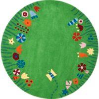 Safavieh Kids® Floral Border Rug in Green
