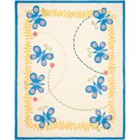 Safavieh Kids® Butterfly Rug in Ivory/Blue