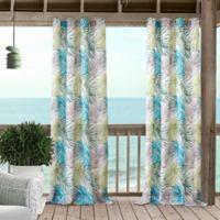 Tahiti 84-Inch Grommet Window Curtain Panel in Blue/Green